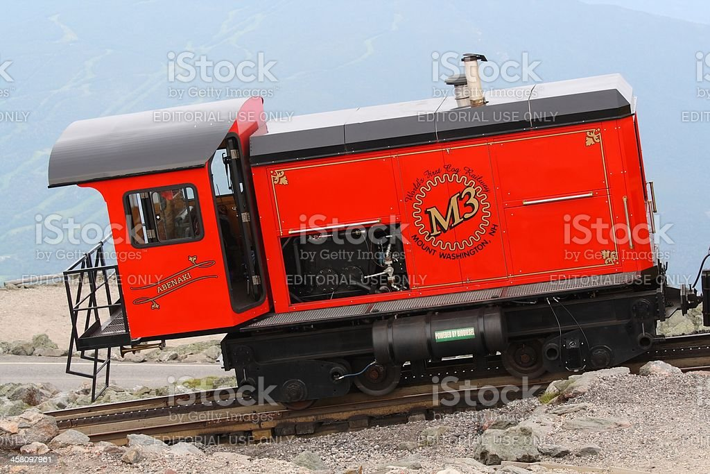 Mount Washington Train Engine stock photo