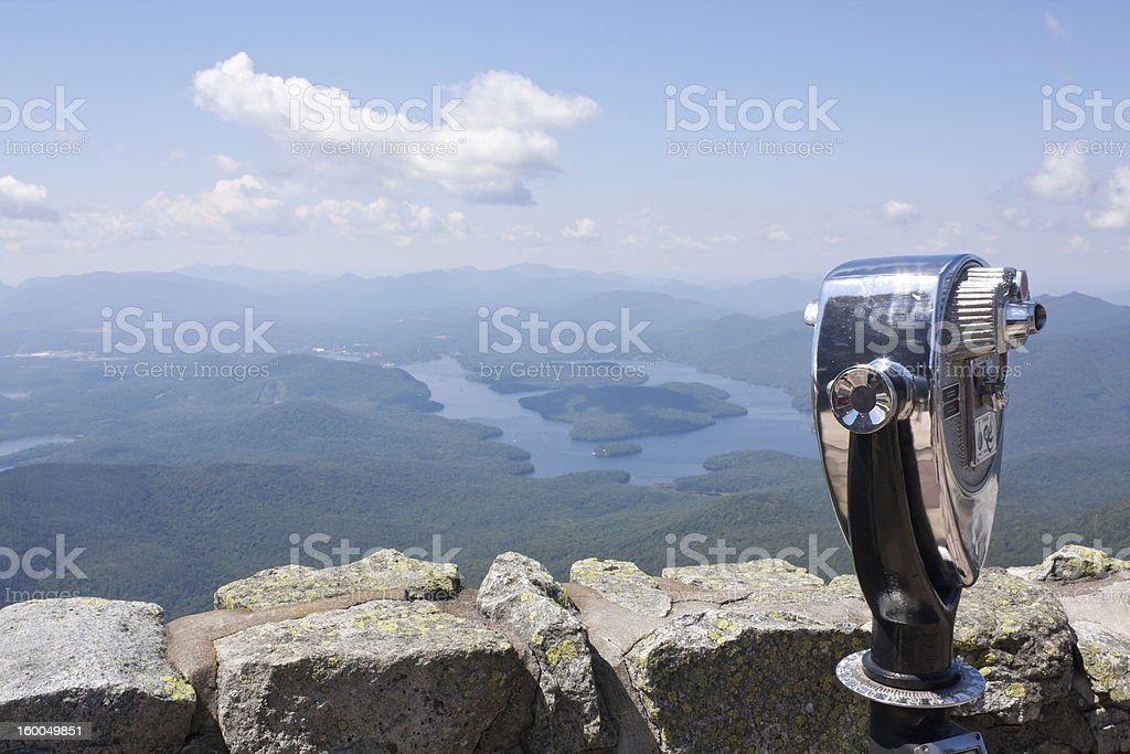 Mount Whiteface and Lake Placid stock photo
