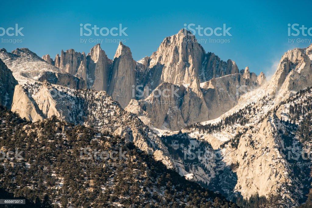 Mount Whitney Lone Pine, California stock photo