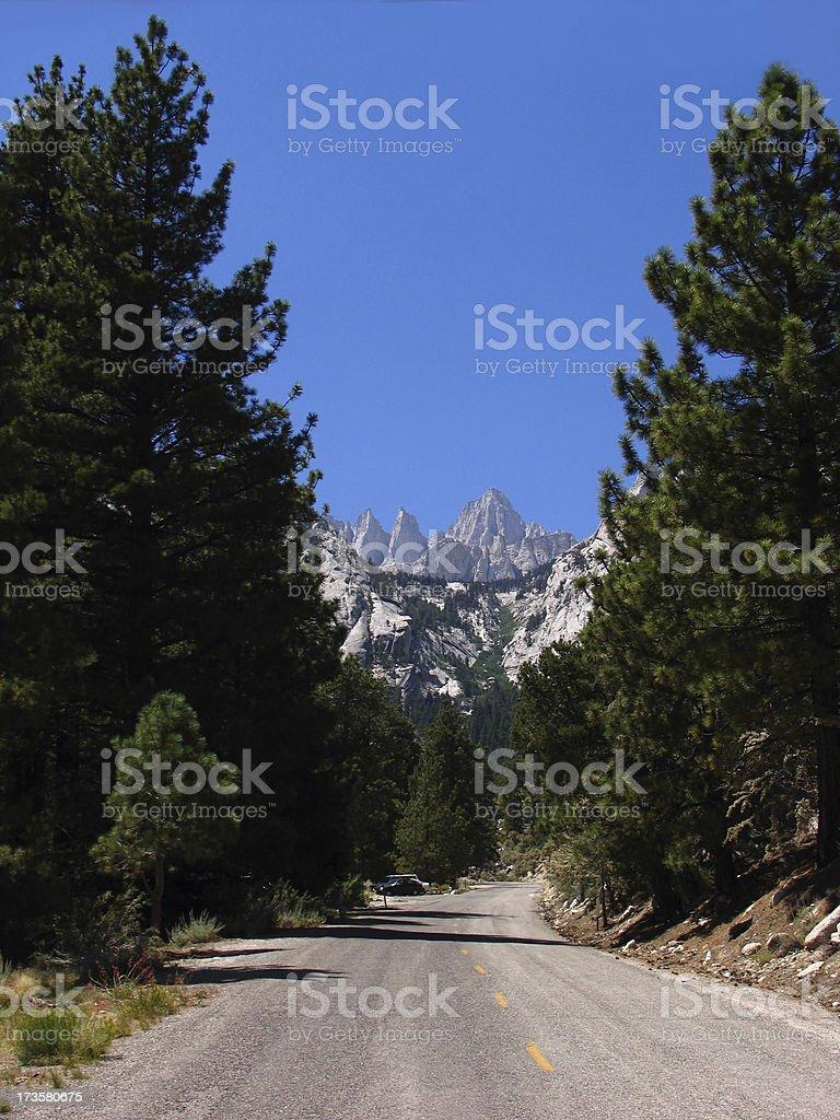 Mount Whitney scenic drive stock photo