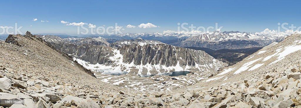Mount Whitney Summit Panorama stock photo