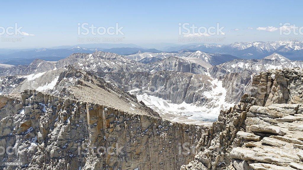 Mount Whitney Summit Scenery royalty-free stock photo
