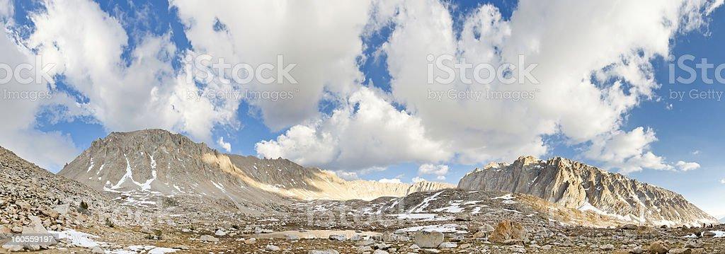 Mount Whitney West Face Panorama stock photo