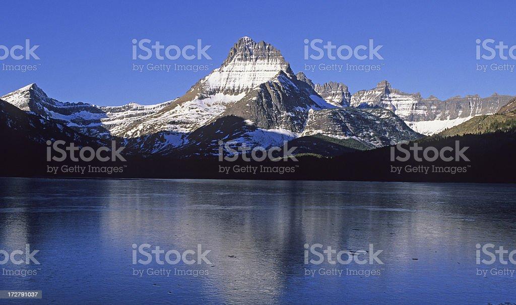 Mount Wilbur in Glacier National Park stock photo