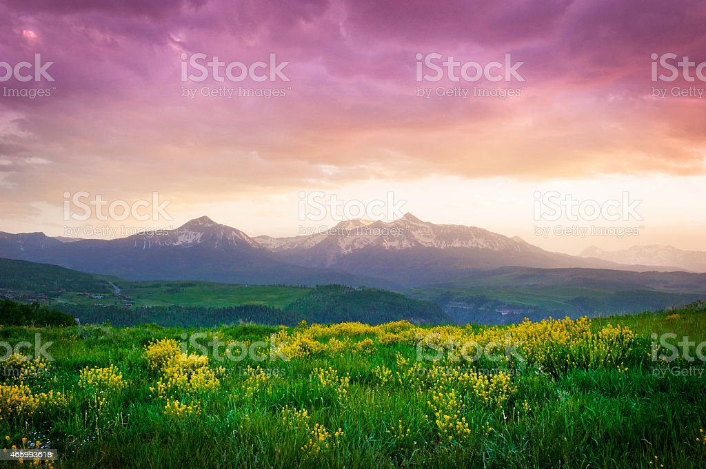 Mount Wilson Sunset stock photo