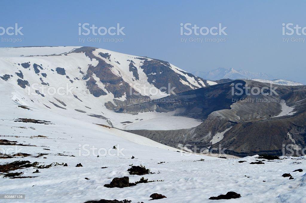 Mount ZAO in spring stock photo