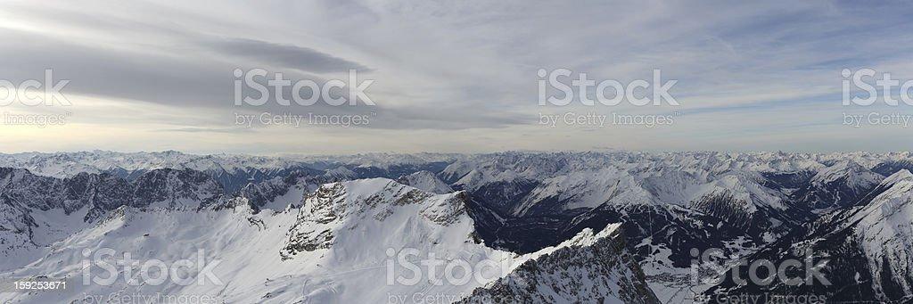 Mount Zugspitze Zugspitzplatt Panorama royalty-free stock photo