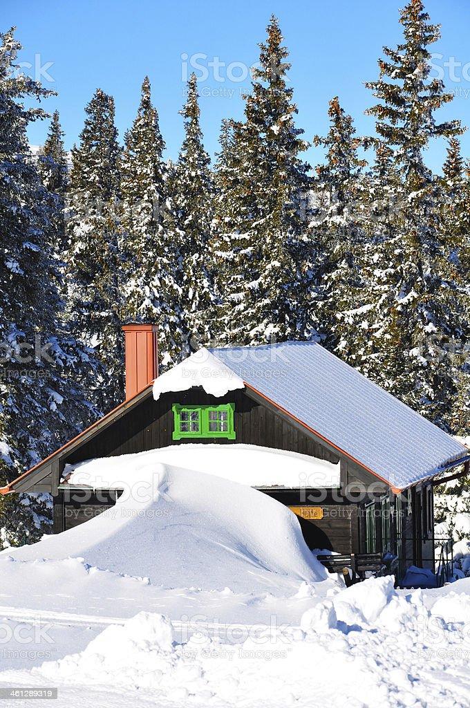 Mountai hut on Rax Alp in Austria, Europe stock photo