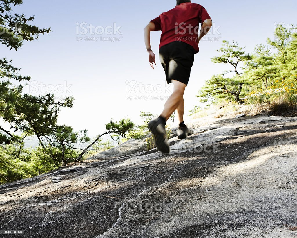 Mountail Trail Runner royalty-free stock photo