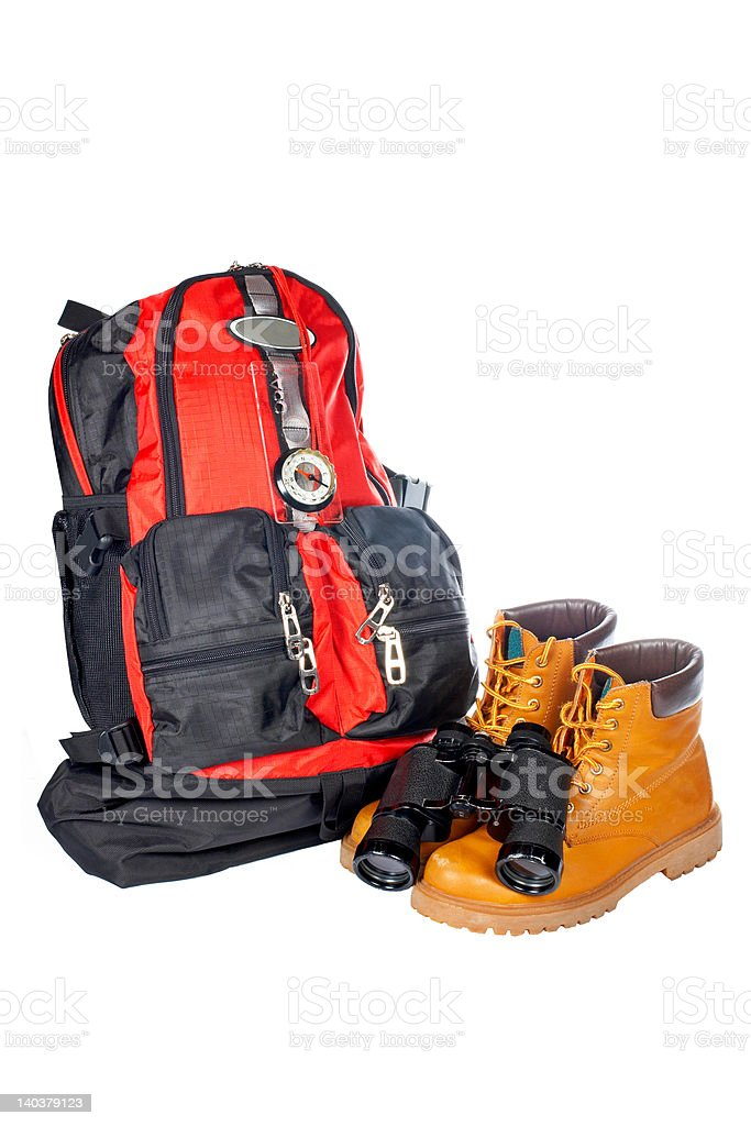 Mountain adventure kit royalty-free stock photo