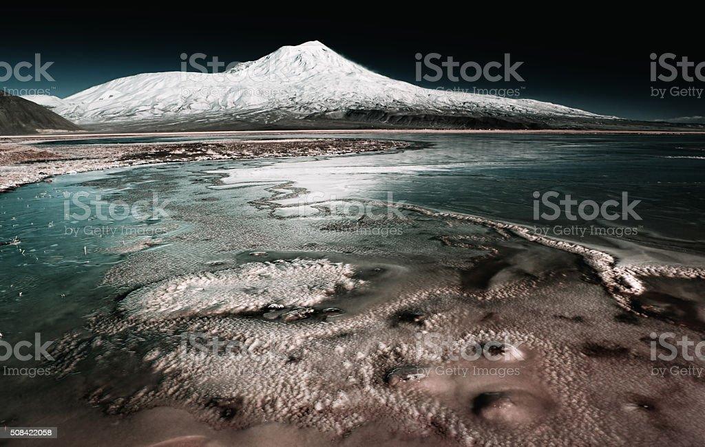 Mountain Agri (Ararat), Turkey stock photo