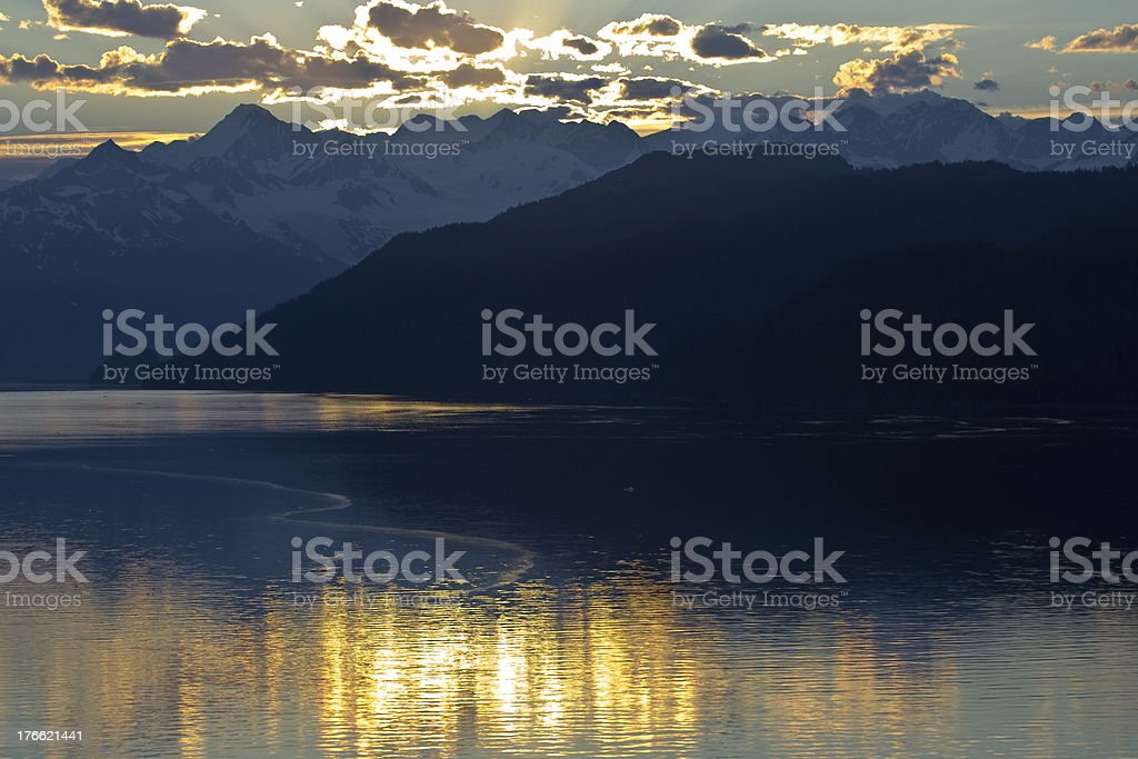Mountain Alaska stock photo