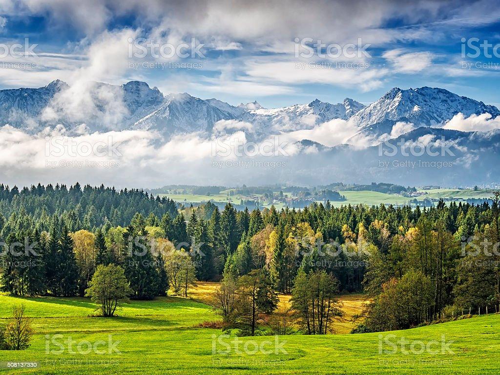 Mountain Allgau stock photo