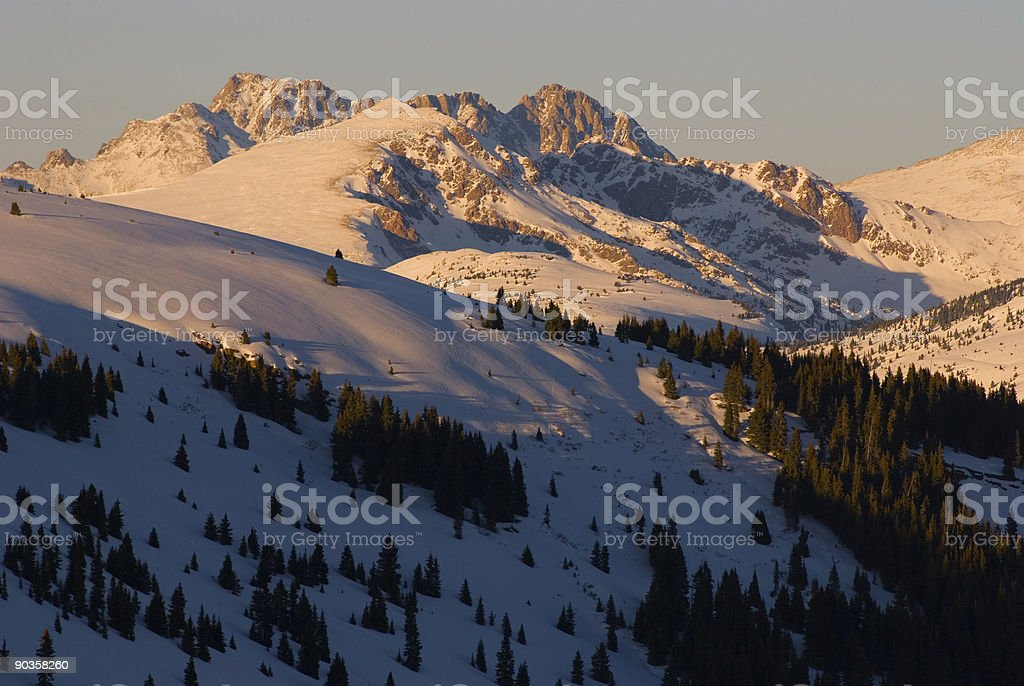 Mountain Alpenglow Scenic royalty-free stock photo