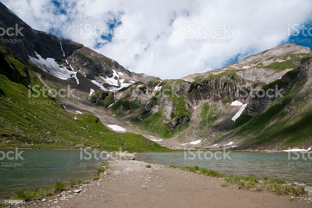 Mountain Alps lake stock photo
