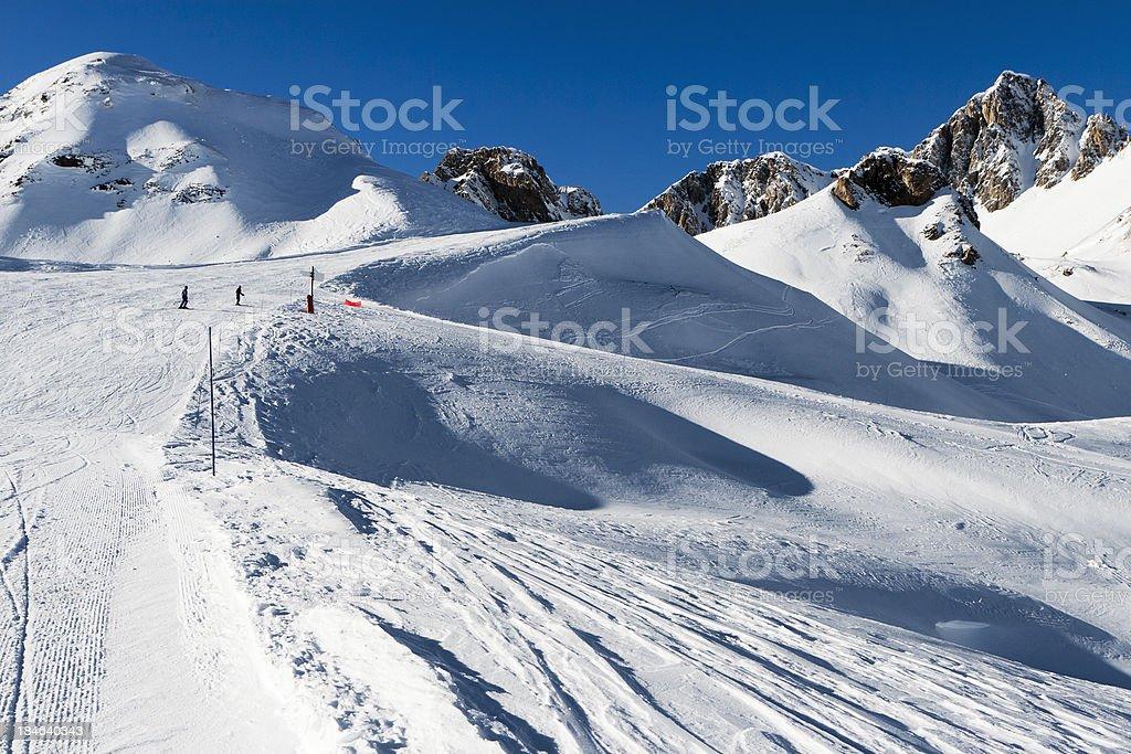 Mountain Alps,piste stock photo