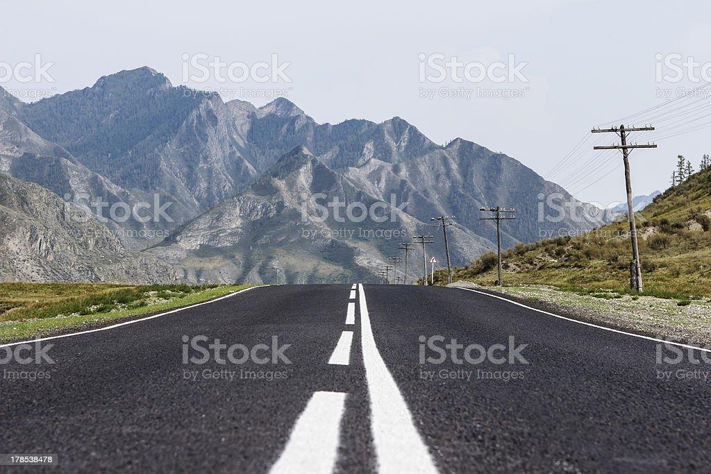Mountain Altai Road stock photo