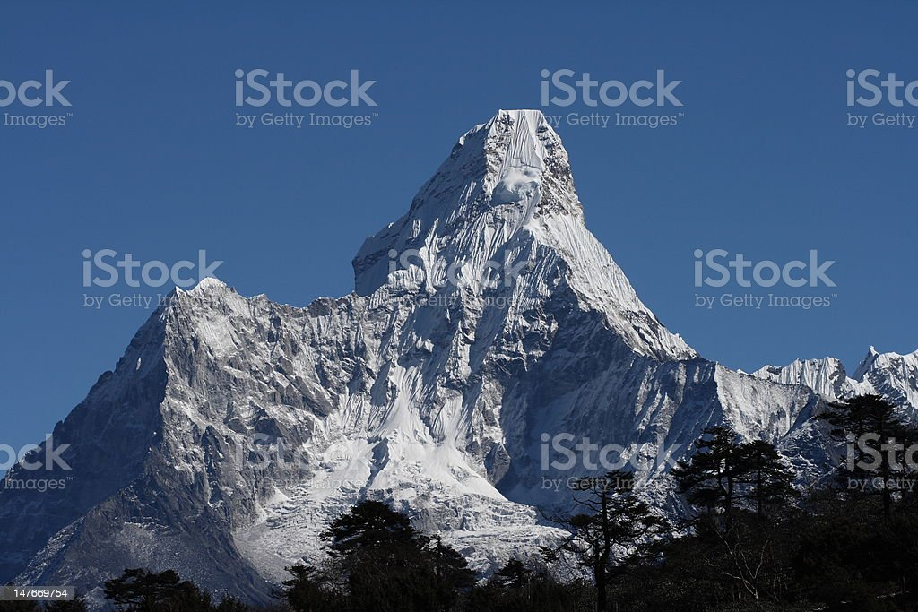 Mountain Ama Dablam stock photo