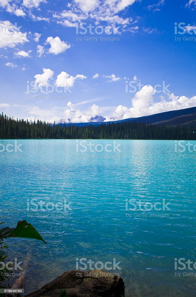 mountain and lake, in YOHO national parks, Alterta, Canada stock photo