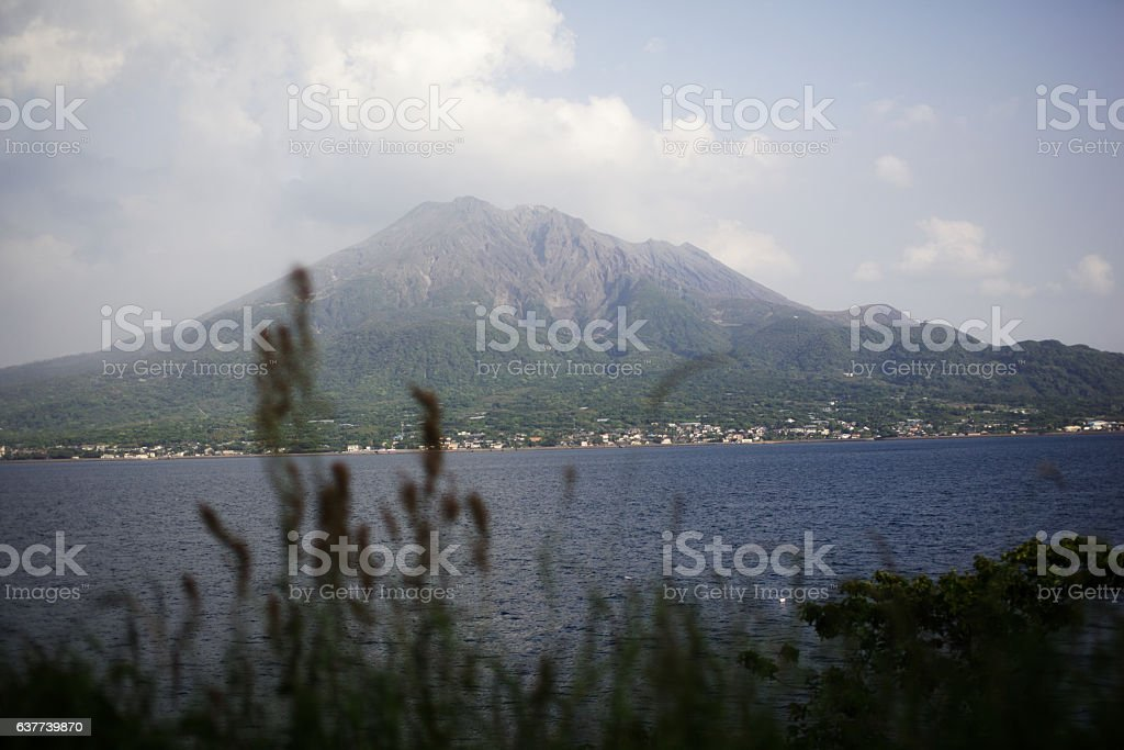 mountain and lake of japan stock photo