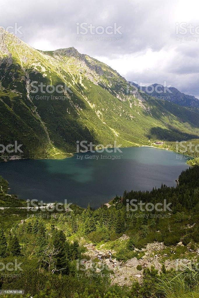 Mountain and lake royalty-free stock photo