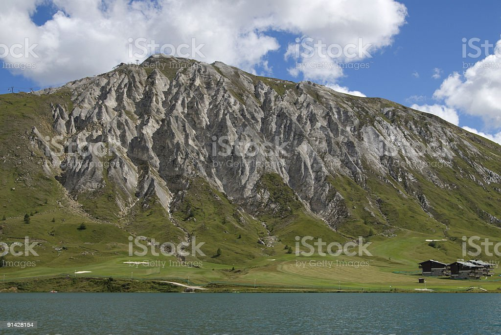 Mountain and Lake, Tignes2 royalty-free stock photo