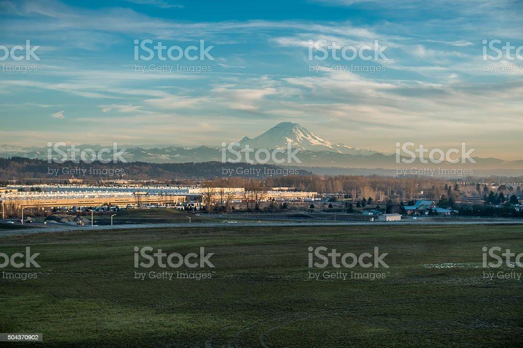 Mountain And Modern 4 stock photo