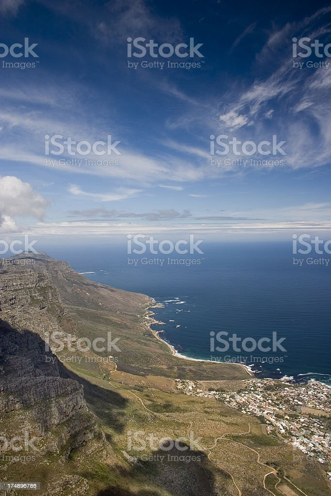 Mountain and ocean royalty-free stock photo