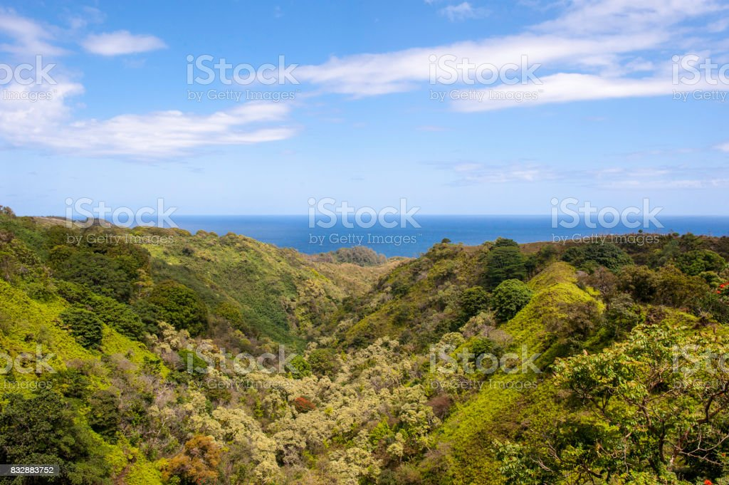 Mountain and Ocean stock photo