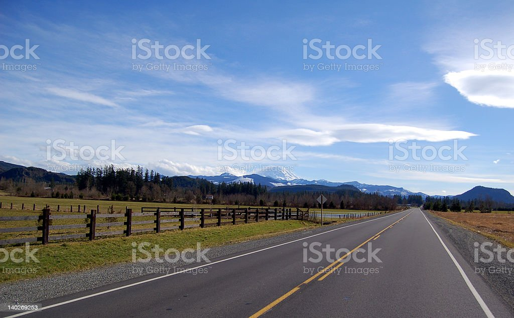 mountain and road royalty-free stock photo