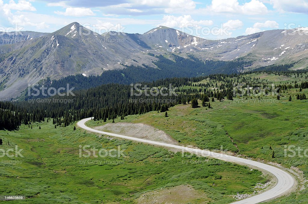 Mountain and Road stock photo