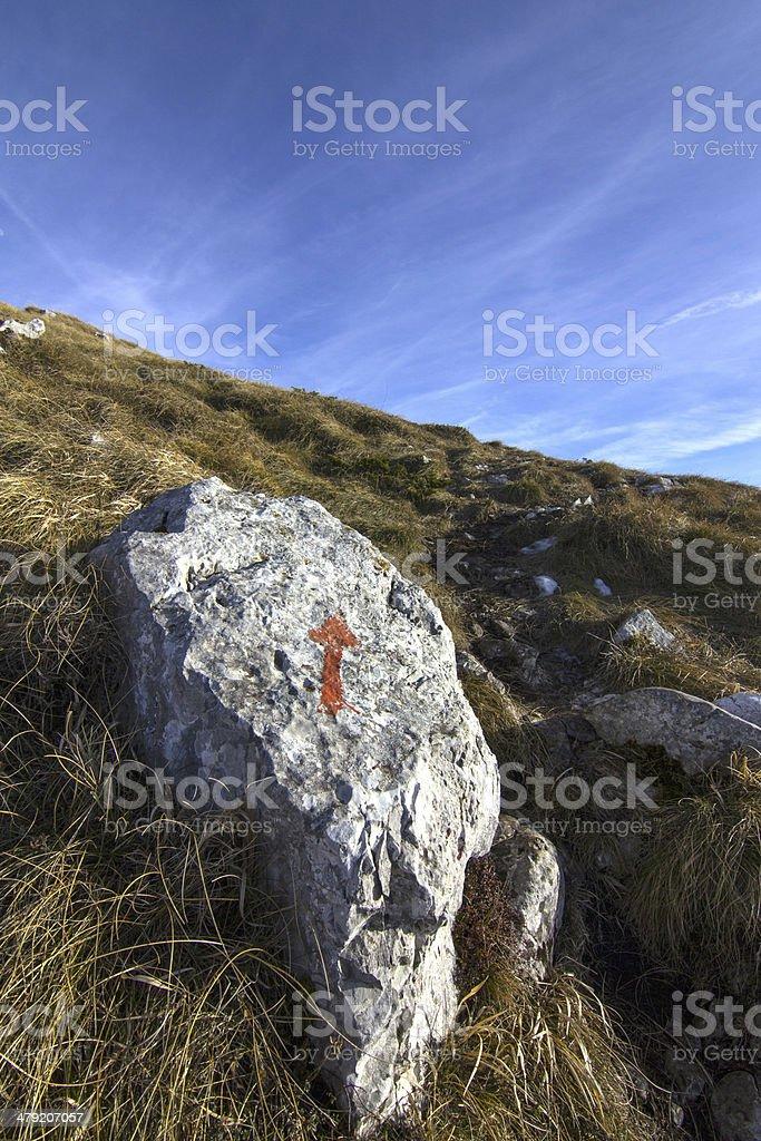 mountain arrow royalty-free stock photo