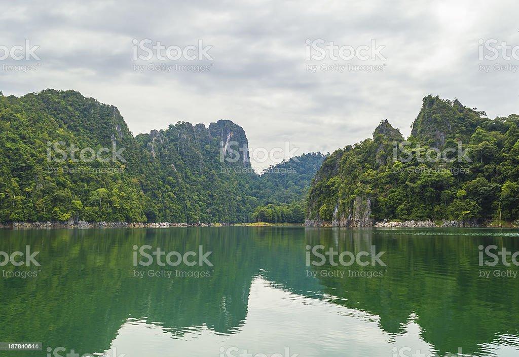 Mountain at Kenyir lake, Malaysia stock photo