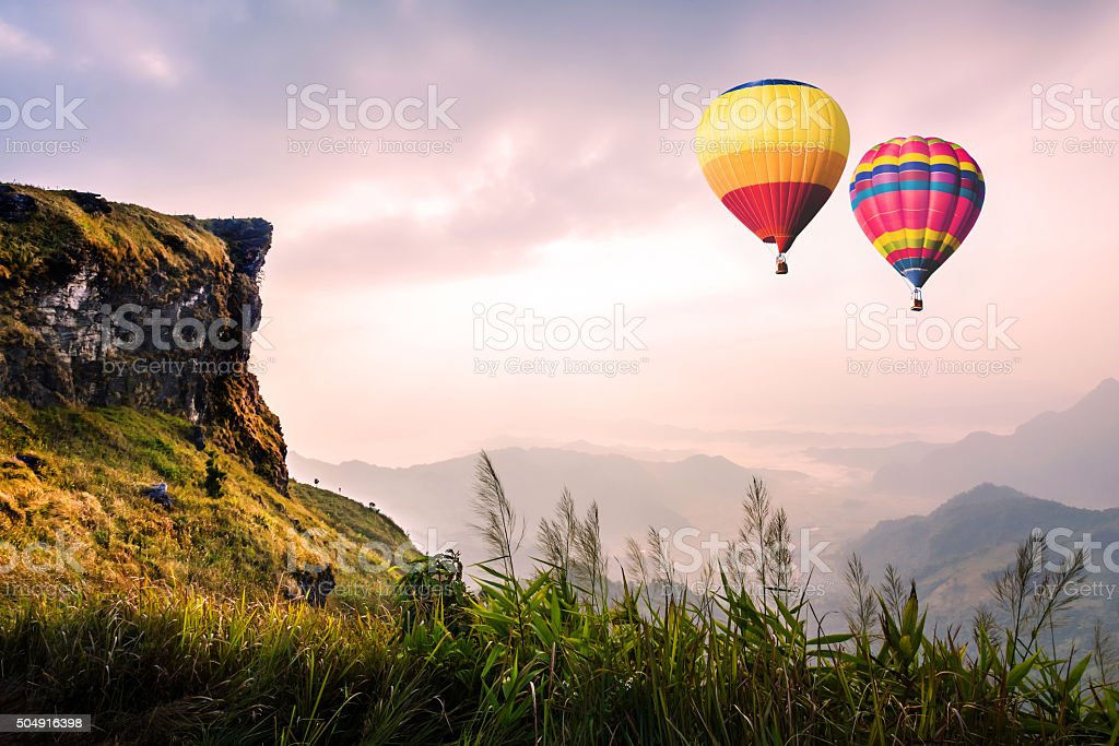 Mountain at Phucheefa,Chiangrai  ,Thailand. stock photo