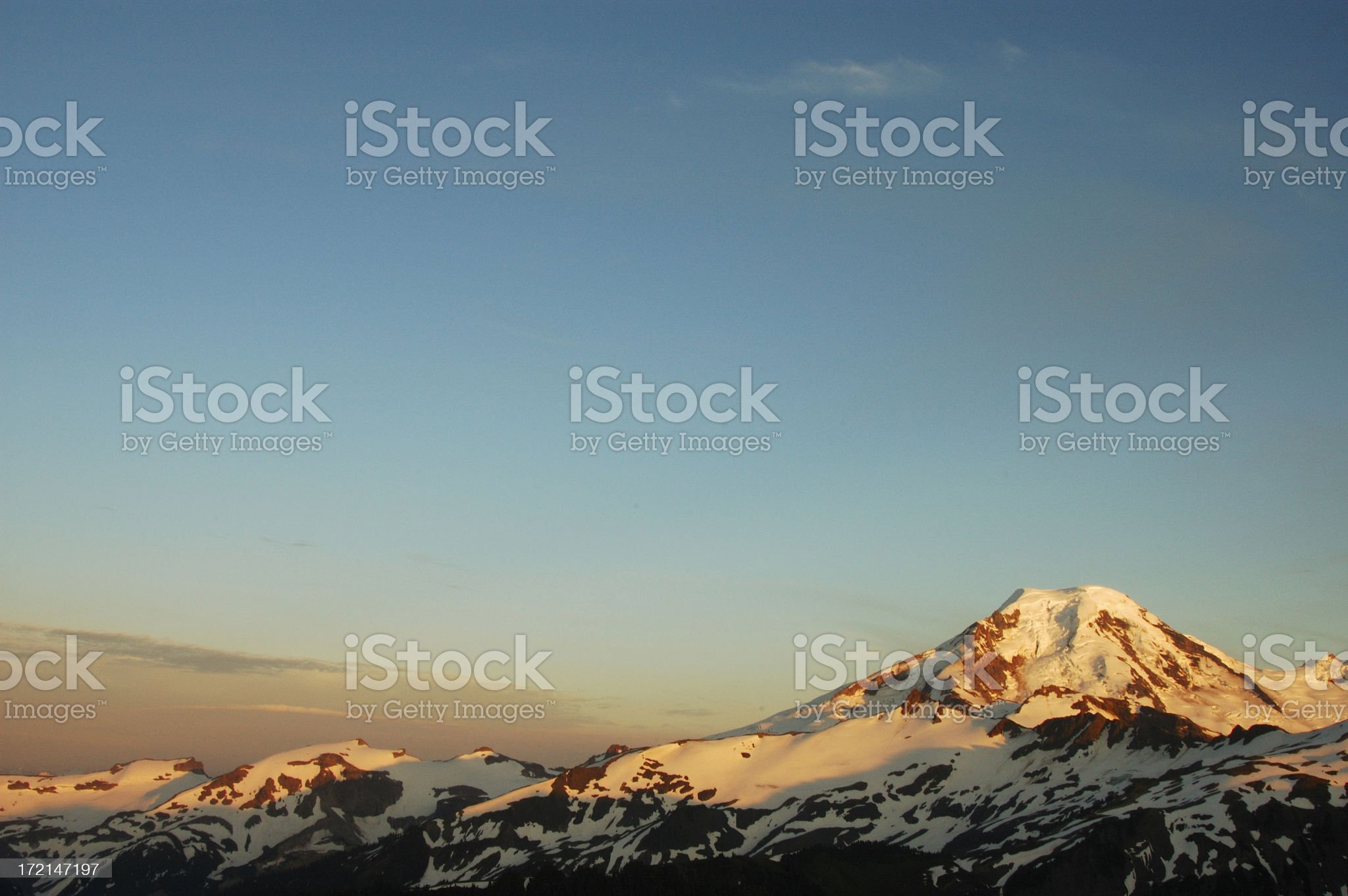 mountain at sunset royalty-free stock photo