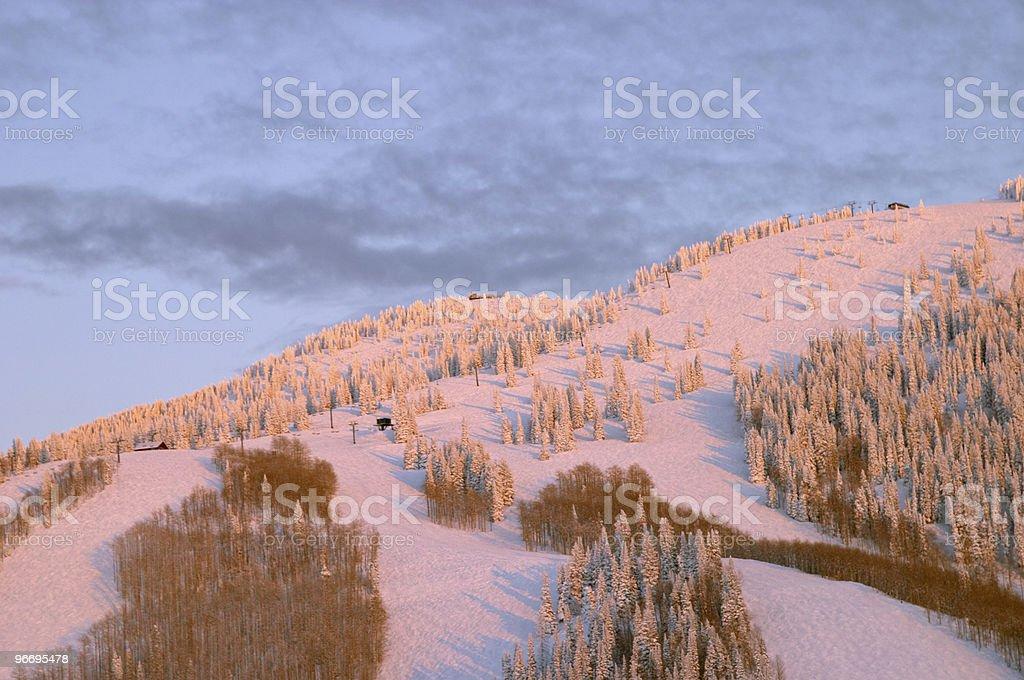 Mountain at winter, Steamboat ski resort, Colorado royalty-free stock photo