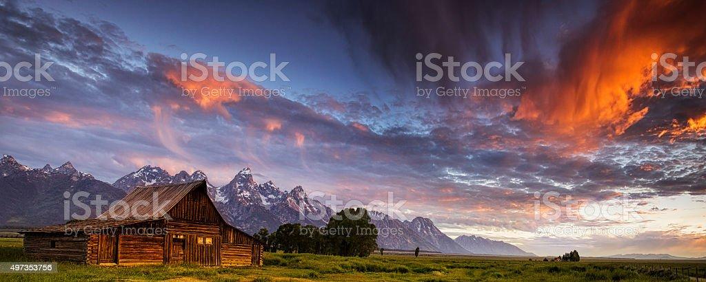 Mountain Barn stock photo