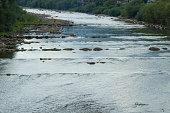 Mountain beautiful River in the Carpathians