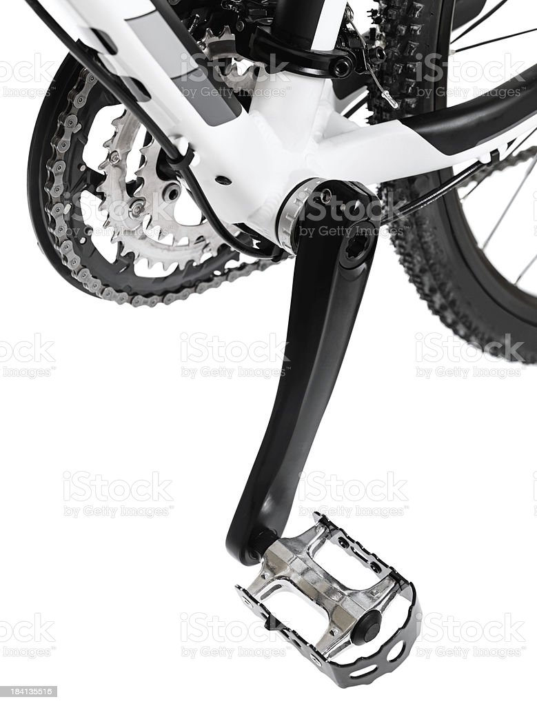 Mountain Bicycle Pedal stock photo