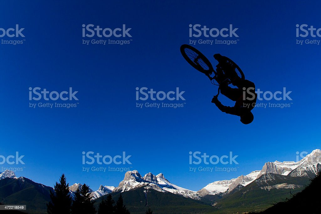 Mountain Bike Backflip stock photo