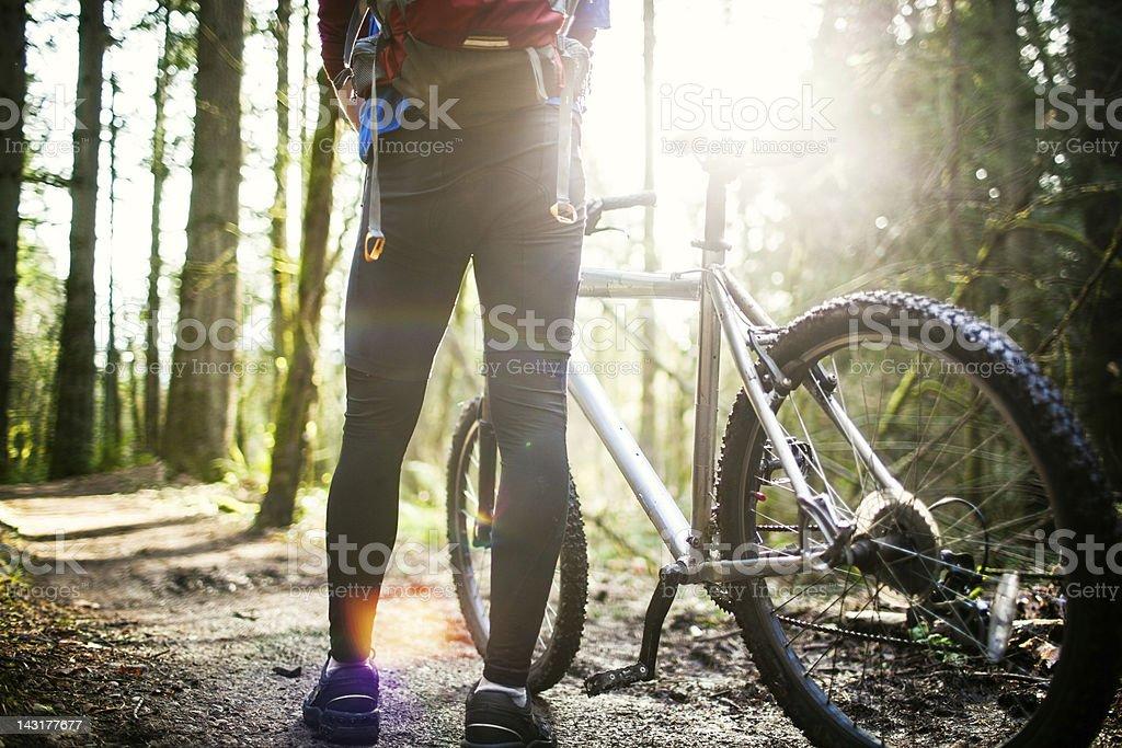 Mountain Bike Break royalty-free stock photo