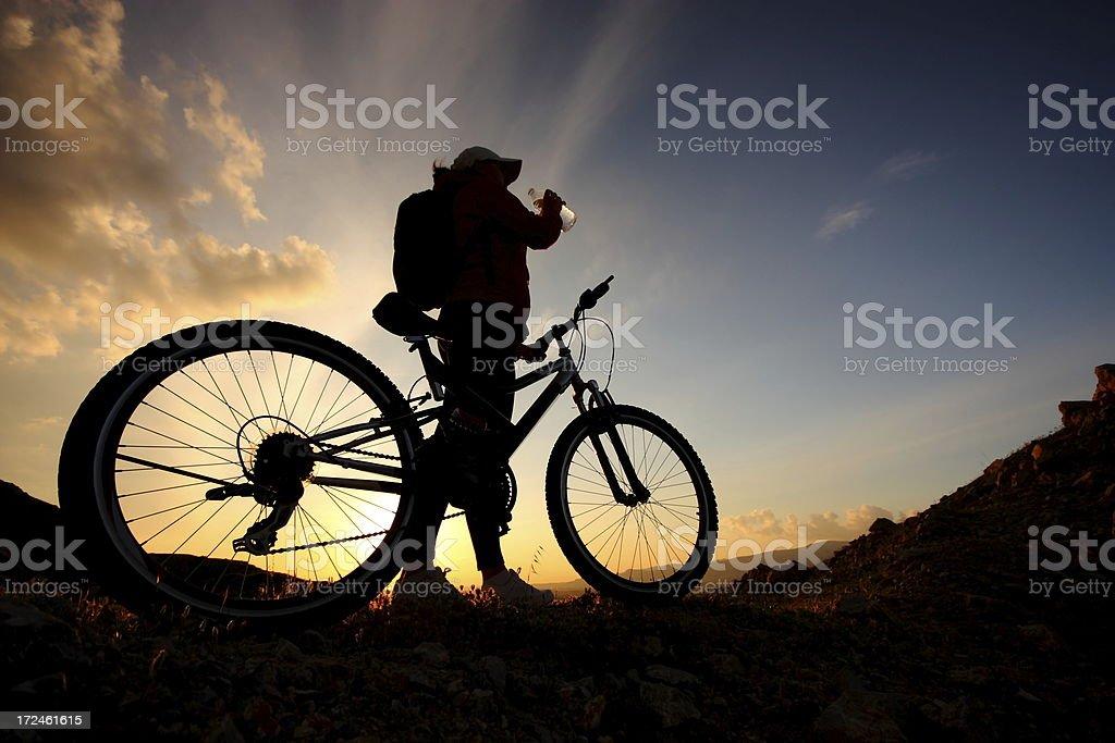 Mountain Bike Break stock photo