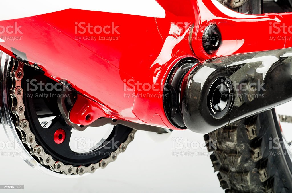 Mountain Bike Chainring and Cranksets / Chainset stock photo