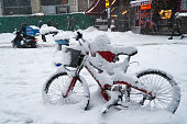 Mountain Bike Covered with Snow