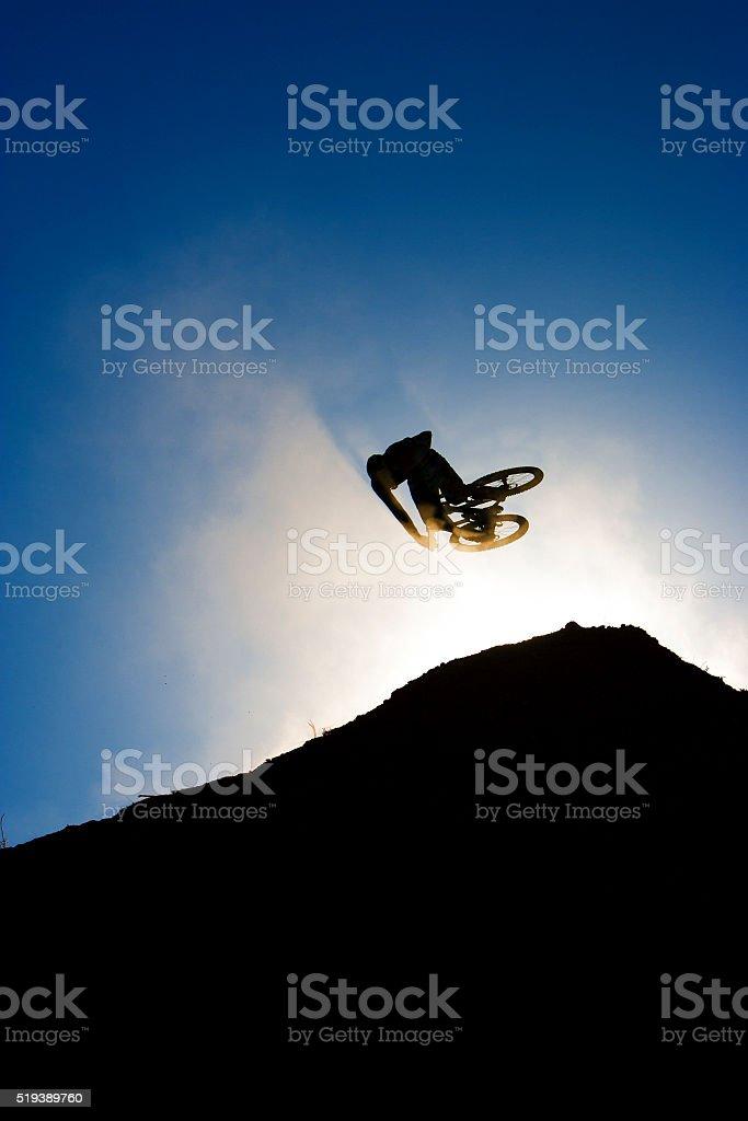 Mountain Bike Dirt Jump stock photo