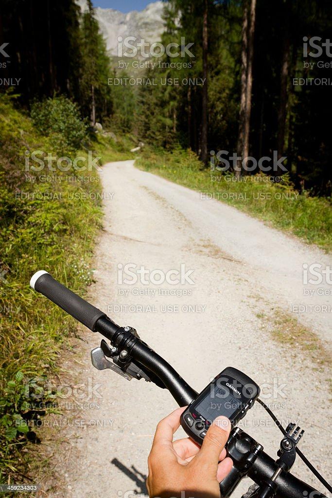 Mountain Bike Gps Outdoor Orientering stock photo
