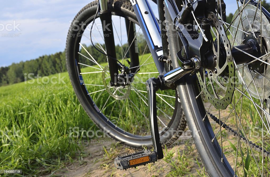 Mountain bike in countryside royalty-free stock photo