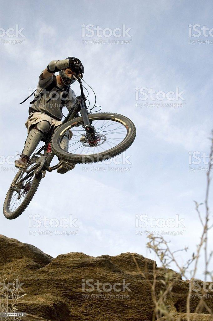 Mountain Bike Jump royalty-free stock photo