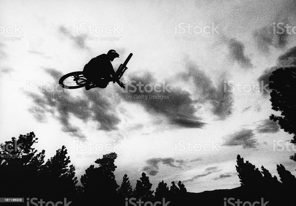 Mountain Bike Jump stock photo
