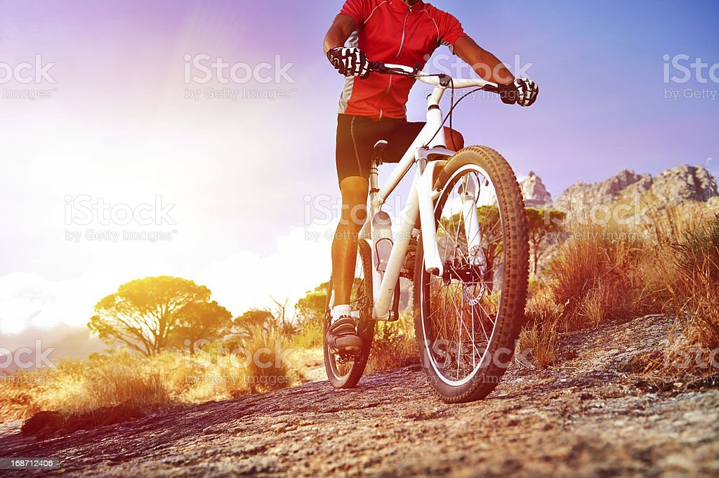 moutain bike man stock photo